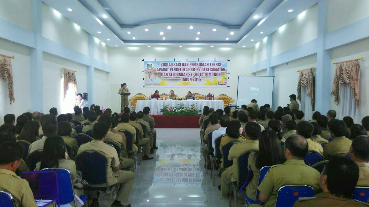 Sosialisasi dan Pembinaan Aparat Pengelola (PBB-P2) Pemerintah Kota Tomohon