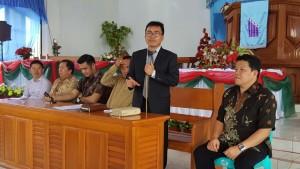 Ketua P/KB Sinode gMIM Pnt Ir Stafanus BAN Liow memimpin rapat perdana Panitia Hapsa
