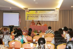 SAS saat menutup In House Training di Hote Ibis