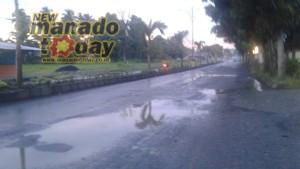 Balai Jalan Provinsi Sulut , jalan Amurang, jalan Amurang rusak, DPP PAMI ,Jefri Sorongan