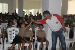 Bupati menyapa para siswa