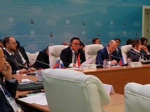 Wali Kota Tomohon Jimmy F Eman SE Ak di Moscow Enes Expo  Moscow