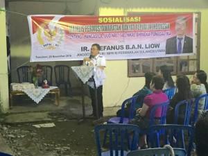 SBAN Liow, Anggota DPD-RI utusan Provinsi Sulawesi Utara