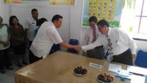 Wali Kota Tomohon menerima Tim Surveior Akreditasi