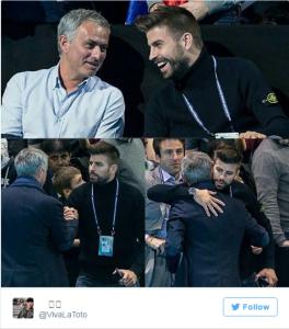 Jose Mourinho ,Gerard Pique,Manchester United