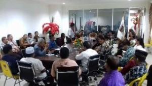 Suasana rapat FKUB, FKDM dan FPK Kabupaten Minsel, yang dipimpin Wakil Bupati Frangky Donny Wongkar