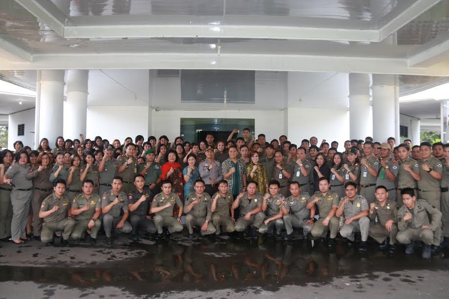 Forkopimda bersama Satpol PP Kota Tomohon