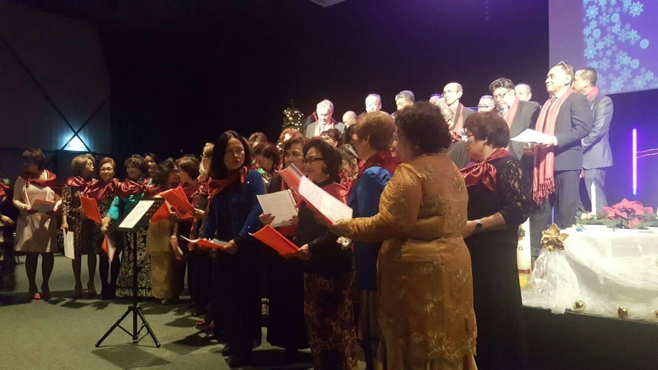 Suasana Ibadah Pranatal warga Kawanua di Belanda