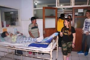 SAS besuk orang sakit di RS Bethesda