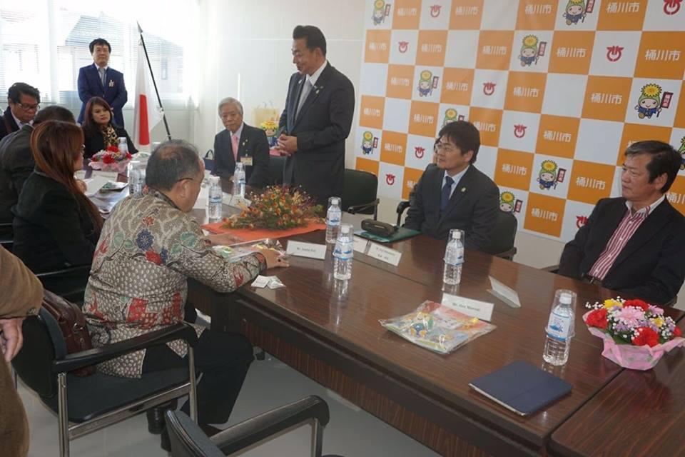 Pemerintah Kota Okegawa menyambut kedatangan Delegasi Kota Tomohon