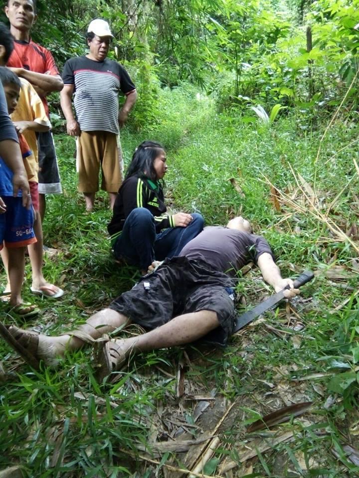 Mayat Ari Lumi saat ditemukan