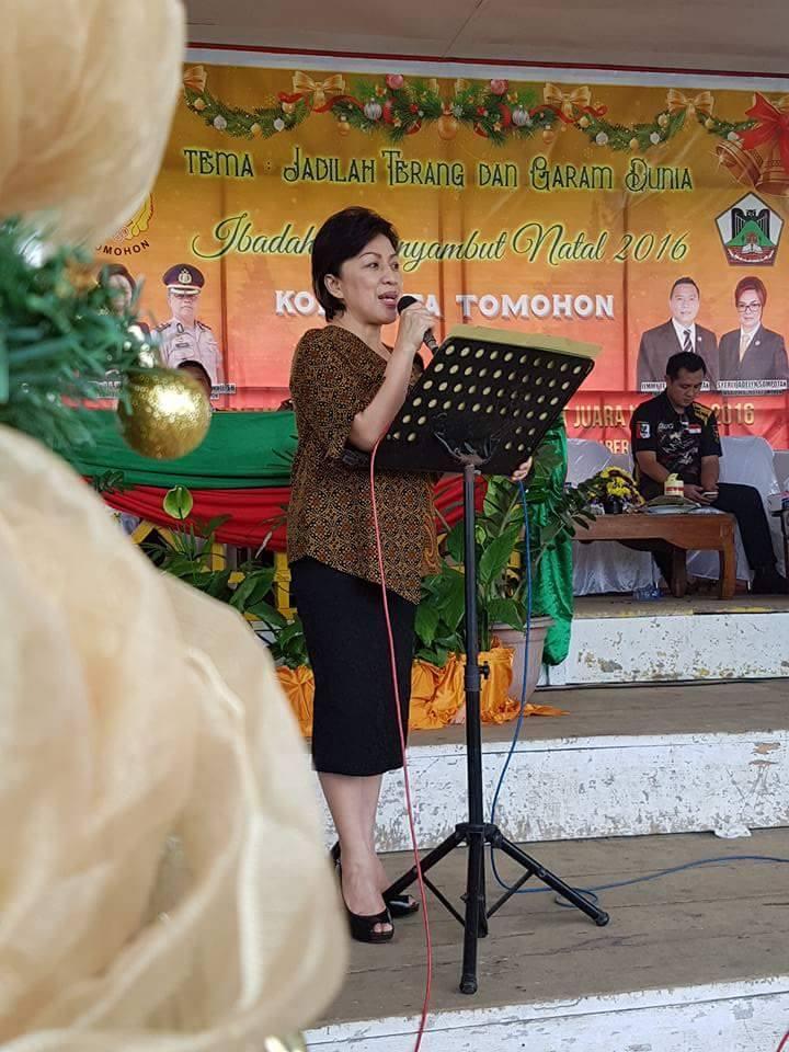 Ketua KONI Tomohon Ir Miky JL Wenur memberikan sambutan