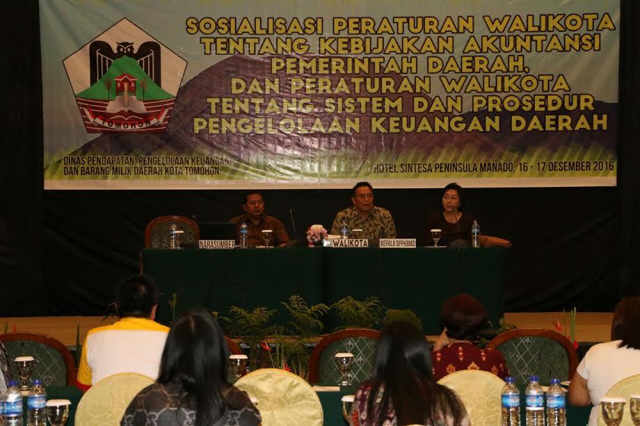 Sosialisasi Perwako Sistem dan Prosedur Pengelolaan Keuangan Daerah