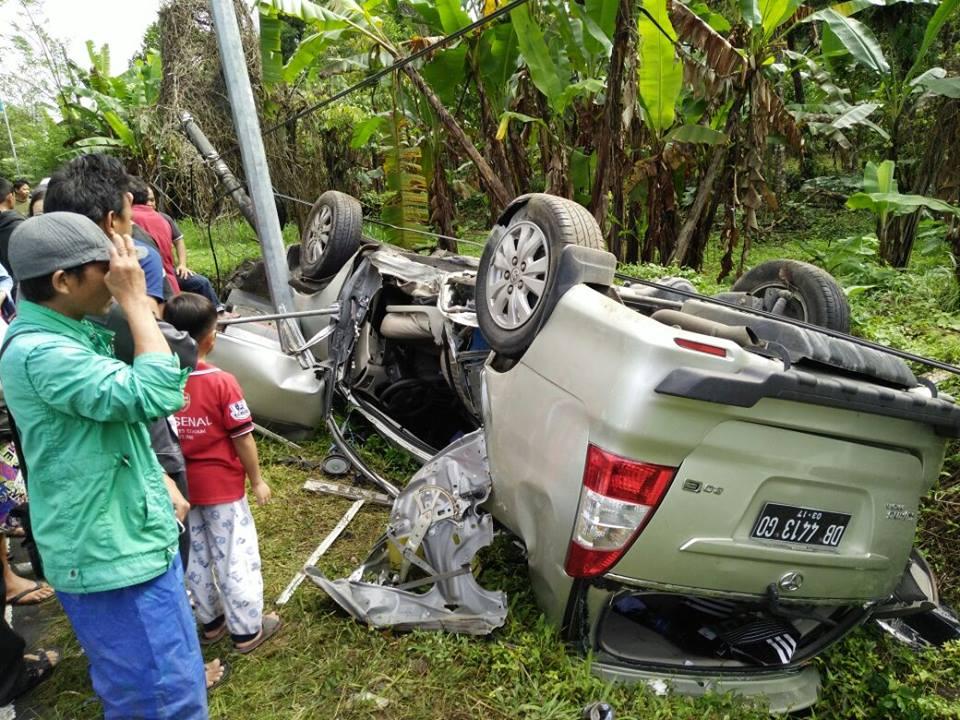 Kndisi kendaraan saat terjadi kecelakaan lalulintas di ruas jalan Leilem-Sonder