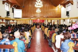 Ibadah Tahun Baru Pemkot Tomohon di GMIM Bait El Kamasi