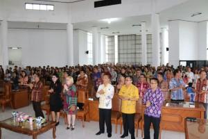 Ibadah awal tahun jajaran Pemkot Tomohon