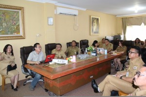 Rapat pembahasan pembangunan Kantor Pelayanan Terpadu Pemkot Tomohon