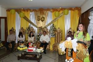 Wakil Sapi Kota mengucapkan selamat HUT ke-50 kepada First Lady Tomohon