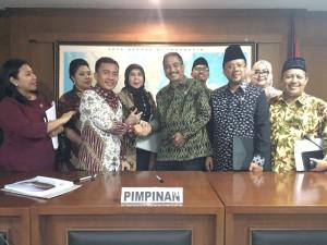 Senator SBAN Liow pada Raker Komite III DPD-RI dengan Kementerian Pariwisata RI
