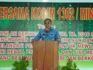 Kodim Minahasa , Ibadah Natal , Letkol Inf Jubert N Purnama STh, JWS