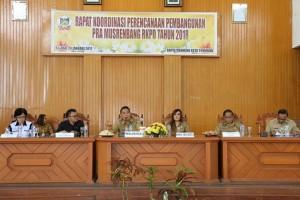 Wali Kota Tomohon Jimmy F Eman SE Ak memimpin Rakor Pra Musrenbang