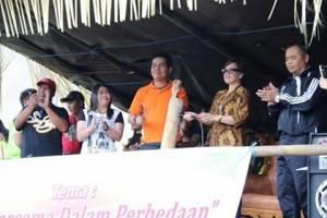 Wawali, Ketua PBVSI dan SEkum KONI Tomohon dalam pembukaan  kegiatan