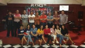 Sonny Kaparang bersama rekan-rekan seangkatan di SMA Krosten Tomohon