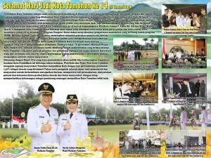Pemkot Tomohon Mengucapkan Selamat HUT ke-14 Kota Tomohon