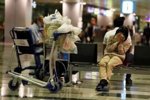 tinggal di Bandara, Bandara Changi, Singapura,