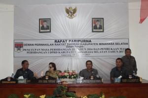 DPRD Minsel ,  Penutupan Masa Sidang III