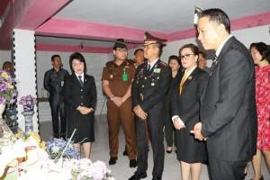 Wali Kota Tomohon, Wakil Wali Kota, Ketua DPRD, Kapolres dan mewakili Kajari di ziarah dalam rangka HUT ke-14 Kota Tomohon
