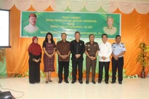 Lusius Sunanrno SH MH , Forkompinda Minsel, Kepala Pengadilan Negeri , Rommel Franciskus Tampubolon,