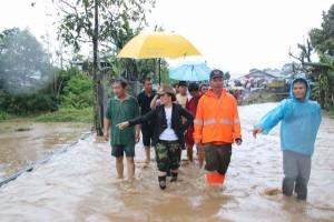 Banjir yang terjadi di Tomohon Minggu (19/2/2017)