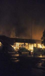 Kebakaran di SMP Katolik Bunda Hati Kudus Woloan