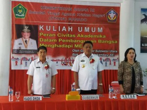 STAKN Manado , Olly Dondokambey,DR Jeane Marie Tulung STh MPd,