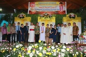 Jajaran Pemkot Tomohon menghadiri Perayaan Syukur Paroki Bunda Hati Kudus Woloan