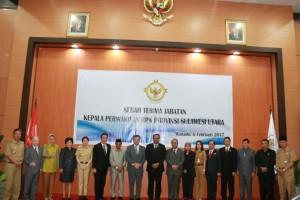 Wali Kota Tomohon bersama kepala Daerah Se-Sulut Di Sertijab Kepala BPK-RI Perwakilan Sulut