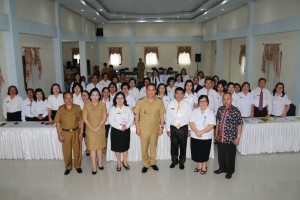 Wali kota, Kadis Dikbud dan para pemateri serta peserta pendidikan dan pelatihan
