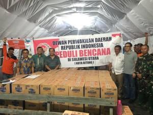Bantuan bencana DPD-RI di Bitung