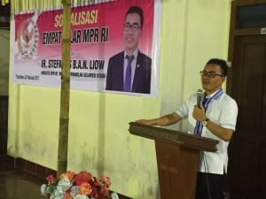 Senator SBAN Liow Sosialisasi Empat Piar MPR-RI di Walian Tomohon