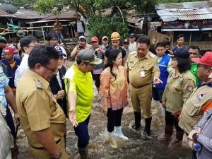 Menko PMK dan Gubernur Sulut Tinjau Lokasi Bencana di Kota Bitung