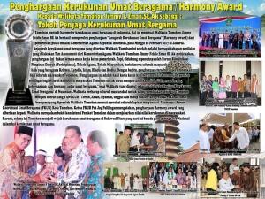 Satu-satunya Daerah di Sulut, Tomohon Terima Penghargaan Kerukunan Umat Beragama