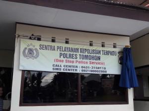 Sentra Pelayanan Polres Tomohon yang diresmikan Kapolda