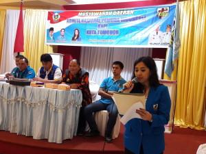 Ladys F Turang SE, Ketua KNPI Tomohon terpilih