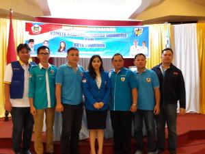 Tim formatur yang akan menyusun struktur KNPi Tomohon Periode 2017-2020