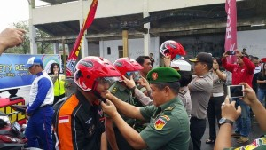 Anugerah Mulia, Polisi dan Rindam Tomohon Gelar Giat Safety Riding