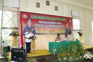 Wali Kota paparkan program dan kondisi Kota Tomohon di hadapan Kapolda Sulut