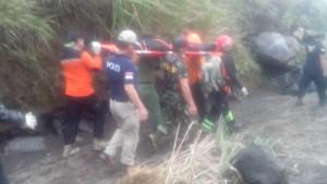 Mayat David Lambanaung yang ditemukan sekitar Kawah Gunung Lokon