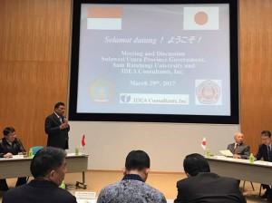 Sulut Perkuat Kerjasama dengan IDEA Consultant Inc Jepang