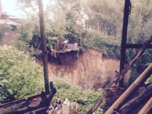Longsor di Talikuran Kawangkoan Utara, Tujuh Rumah Warga Terancam tak Bisa Ditinggali